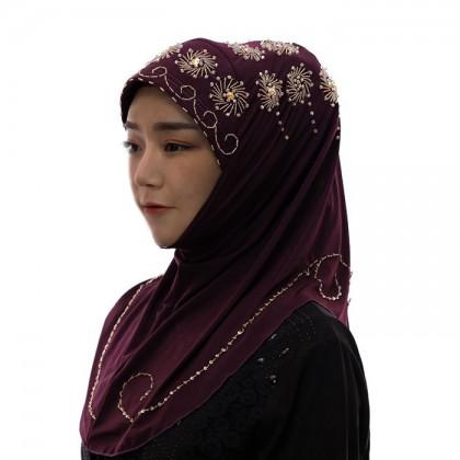 Golden Flower Mulberry Hijab